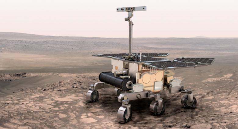 Modello di rover progettato per la missione Exomars
