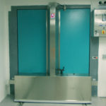 Cyclotron bunker shielded door