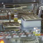 Dispensed vial rack