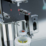 Transseptal vial filling station