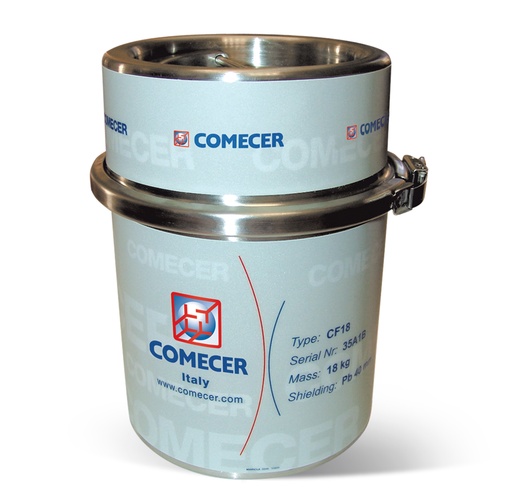 CF18-PB - Lead shielded container for vial transport