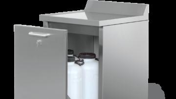 SR4 - Shielded storage bench for radioactive waste