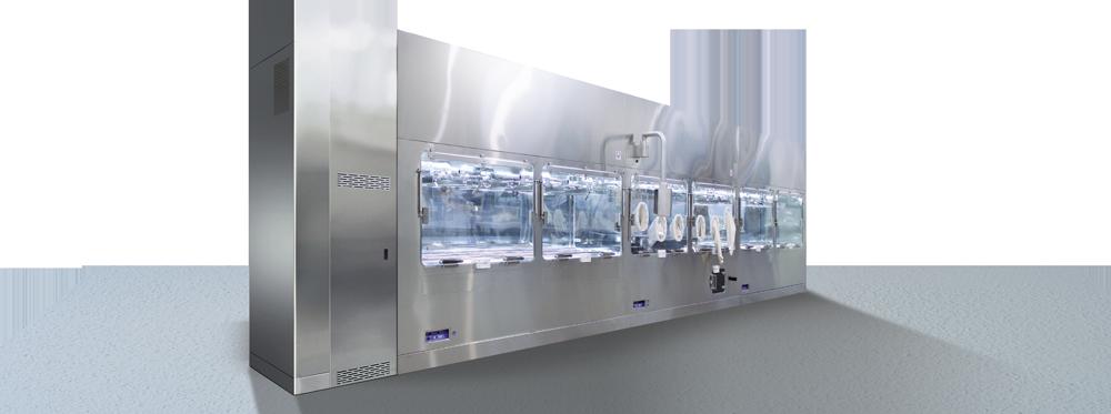Pharma barrier system isolator