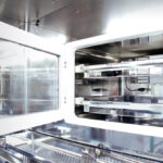 Isolator line with LAF hood for material input - Internal refrigerator