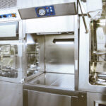 Isolator line with LAF hood for material input - Laminar Flow Hood